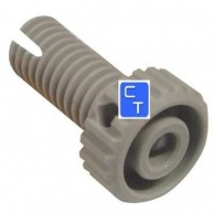 4379 PATA REGULABLE PLASTICO BLANCO 50mm ( D 11mm ) **USADO** ( Envío en: 1 día más transporte )