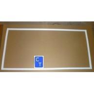 13106 BURLETE PUERTA REFRIGERADOR BLANCO 1145mm X 580mm (Material de encargo : ver condiciones de venta) ( Entrega aprox: 3 días